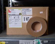 Scapa Pro 3302 Beige Cloth Adhesive Tape - 50mm x 50m - 2 Boxes - 16 rolls per box