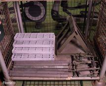 Pedestal Frame, Pin Bridge, Grill