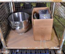 Heavy Duty 19 inch Mixing Bowl Unit, INC Potato Rumbler Parts, Peeler Plate, Liner, Electr