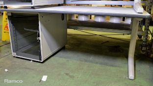 Technical Table With 1 Glass Cabinet Door L 1800mm x W 920mm x H 750mm