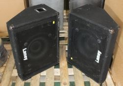 1 Pair of Laney CM15-2 Stage Monitor Speaker Units - 150W