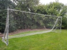 Full size heavy weight football goal 24ft x 8ft with professional net