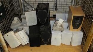 Various Wall Mounted Speakers - Cambridge Audio, Quad