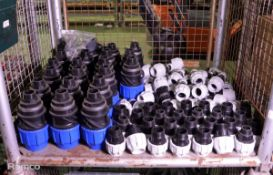 80x Various Sized MDPE Reducer Pipe Connectors