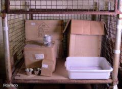 12x Drain Shelf for Freezers, 288x Ramekin / sauce cups 8oz, 12x Pot Holders