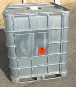 1000LTR IBC Storage tank in frame - W 1200mm x D 1000mm x H 1170mm