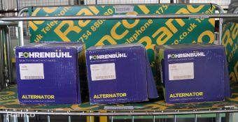 3x Fohrenbuhl alternators - FA6226, FA6272, FA7294