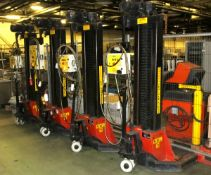Somers 7 Tonne mobile lift system - 4 lifts - serial L33017 - Each lift weighs 570kg - no4