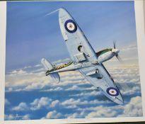 No 72 Basutoland Fighter Squadron Spitfire Poster