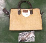 Genuine Camel Hide Laptop Bag