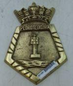 Pedro Teixeira Brass Plaque