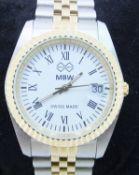 MBW 15RMQ2B12 Ladies Swiss Stainless Water Resistant (5ATM) Steel Watch - 2015