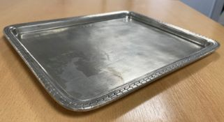 Cosi Tabellini Amalfi Rectangular Tray - Pewter - 31 x 25cm - Please check pictures for condition