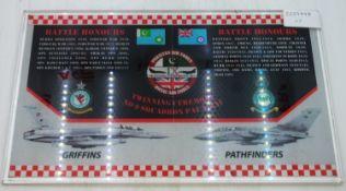 Battle Honours Twinning Ceremony No 9 Squadron Plaque