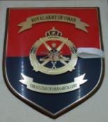 Royal Army Of Oman Artillery Commemorative Plaque
