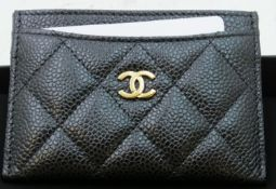 Chanel Card Holder - Leather (includes card of authenticity with serial no. 27886900)