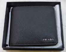 Prada Mens Leather Wallet with authenticity certificate card - 2MO5130 - stamped 31st Aug 2019