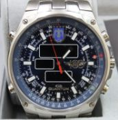 Quantum TAF1911C Mens Turkish Air Force Titanium Water Resistant (20ATM) Wrist Watch