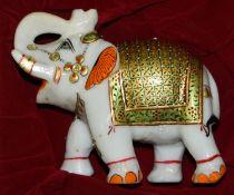 Onyx Decorative Painted Elephant