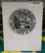 Onyx US Army Paperweight