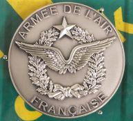 Armee De L'air Francaise Silver Coin Plaque