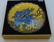 Elegant Chinese Painted Glass Plate