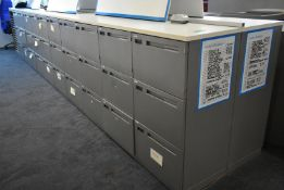 60 x personnel storage lockers, L 5500mm x W 950mm x H 1050mm, bring necessary tools to di