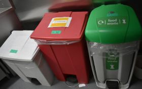 3 x Food waste and disposal bins
