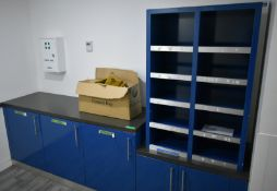 Mail and letter storage unit, L 2800mm x W 650mm x H 1900mm