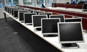 """25 x Various 17"""" LCD computer monitors predominantly HP models 1740 & 1750 but there may"""