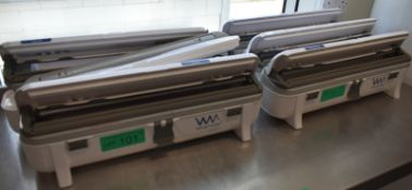 6 x Wrapmaster 4500 cling film wrappers
