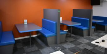 Padded booth seating area, L 1520mm x H 1570mm, buyer to dismantle and remove