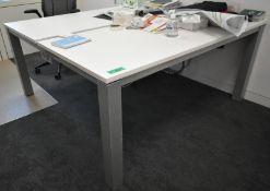 2 part desk, L 1600mm x W 1650mm x H 760mm
