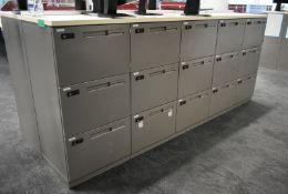 27 x personnel storage lockers, L 2500mm x W 950mm x H 1050mm, bring necessary tools to di