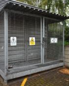 Hazardous chemical store, L 3100mm x W 1300mm x H 2500mm buyer to dismantle and remove