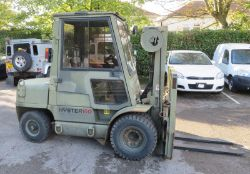 Hyster 60XM forklift - 445.30 hours run - Capacity 6000lbs at 24 inch LC - serial H1776209