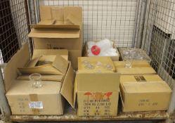 192x Jam Jars & 96x lids, Glass jugs, Save n Serve Pro bottles 1/2 gallon white - 6 per bo