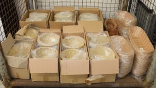 Various sized bread wicker baskets