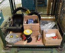 Gate valve, hose clips, Perkins fuel pipes, hose assemblies, Rivertrace Smart Bilge / Cell