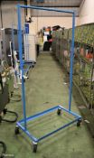 Steely Mobile Store Clothes hanging rack - L915 x D530 x H1780mm
