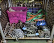 Various Lifting Equipment, Straps, Strop Support, 3m Linked Chains, Cargo Tiedown Webbing,