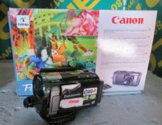 Panasonic SD/HDD Hybrid Camcorder - AS SPARES & Canon PowerShot S70 Digital Camera with ac
