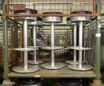 5x Round Stools 350mm x H 820mm