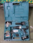 Makita 844D Portable Drill 2 Batteries 1 Charger with case
