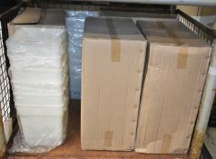 60x 18L food storage containers - white - 12 per box