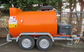 Fuel Pool Twin Axle Diesel 2000L Fuel Bowser - L 3700mm x W 1900mm x H 2100mm