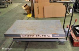 Tepeel 500kgs Single HYD Scissor Lift Trolley L 1800mm x H 1170mm