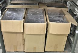 22L clear food storage containers - 6 per box - 5 boxes