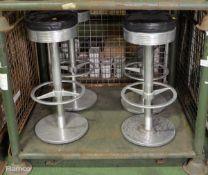 4x Round Stools 350mm x H 820mm