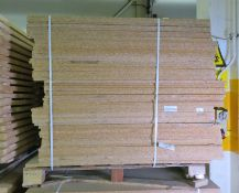 Wooden Racking Chipboard L 1220mm x W 1220mm x H 15mm - 56 sheets